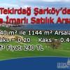 Tekirdağ Şarköy'de Villa İmarlı Satılık Arsalar